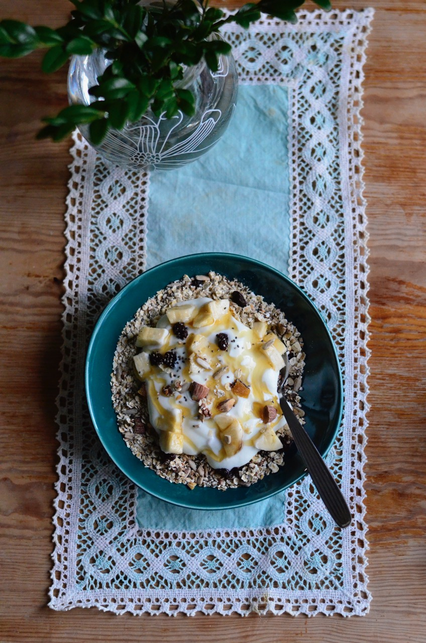 Musli, hjemmelagd musli, homemade musli, chiafrø, chia seeds, frokost, sunn frokos, healthy breakfast, signe schineller, lowcarb, lavkarbo,
