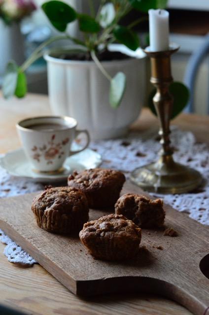 eplemuffins, eplemuffins med havregryn, signe schineller, fretex, apple muffins, søtt til kaffen, rosendal, hjemmelagd kake,