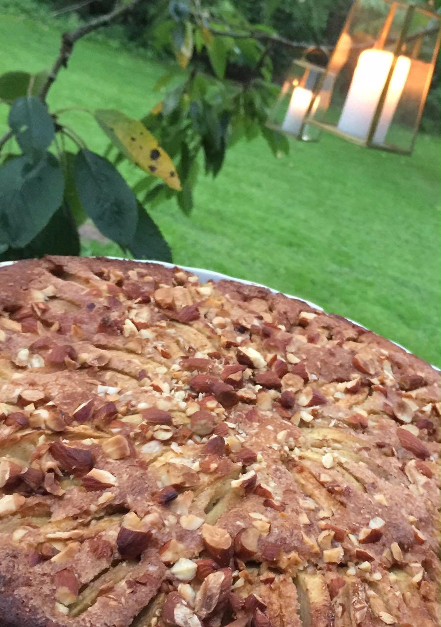 eplekake, apple cake, trines matblogg, matvett, matprat, sunn eplekake, eple dessert. signe scineller, signe schineller yoga.