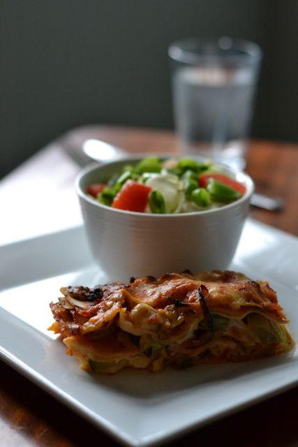 Lasagne, vegetarmat, vegetar lasagne, sunn kost, veggie food, veggie mat, vegetarkost, matprat, sunn mat, sunn lasagne,