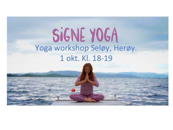 Yoga workshop Seløy, Herøy 1 okt.